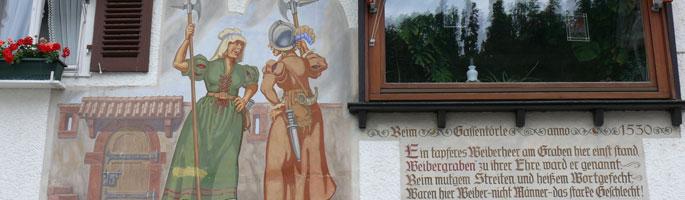 Am Weibergraben halfen auch Frauen bei der Stadtverteidigung