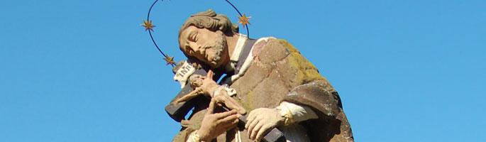 Nepomukstatue auf dem Gassensteg in Wolfach