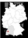 Lage von Wolfach in Deutschland